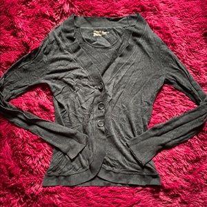 Mossimo dark grey cardigan
